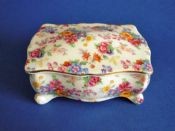 Vintage Royal Winton 'Cotswold' Chintz Candy Box c1952